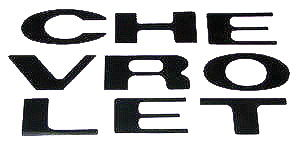 1969-70 TRUCK GRILLE LETTERS-BLACK Photo Main