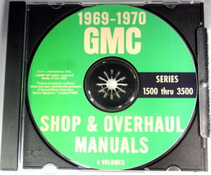 '69-70 GMC 1500-3500 SHOP & OVERHAUL MANUAL CD Photo Main