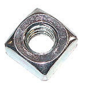 "1/4"" X 20 SQUARE NUT - ZINC PLATED Photo Main"