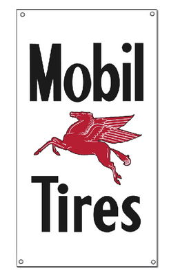 """MOBIL TIRES"" SIGN - 16.5"" x 30"" Photo Main"