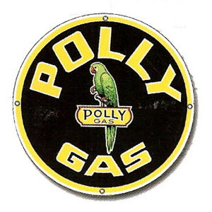 """POLLY GAS"" SIGN - SINGLE SIDED 11"" Photo Main"