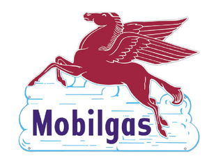 """MOBILGAS"" PEGASUS IN THE CLOUDS SIGN Photo Main"