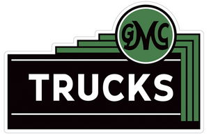 "GMC TRUCKS DEALER SIGN -STEEL-SMALL 18"" Photo Main"