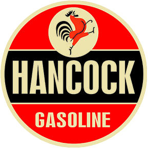 """HANCOCK GASOLINE"" 22"" DISC gas sign Photo Main"