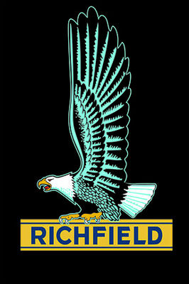 """RICHFIELD"" EAGLE  SIGN  17-1/2 X 23"" Photo Main"