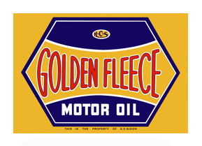 """GOLDEN FLEECE MOTOR OIL"" SQUARE SIGN -22"" x 32"" Photo Main"