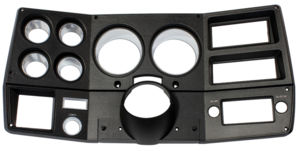 1975-77 TRUCK DASH BEZEL WITH A/C-BLACK & CHROME Photo Main