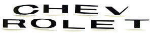 1963-66 TRUCK GRILLE LETTERS-BLACK Photo Main