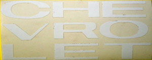 1963-66 TRUCK GRILLE LETTERS-WHITE Photo Main