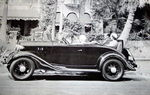 Chevrolet Parts -  1933 CHEV ROADSTER SIDE VIEW B&W PHOTO