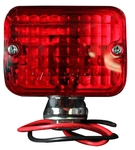 "Chevrolet Parts -  RECTANGULAR RED TURN SIGNAL-2 3/8""x1 3/4""x2 1/4"""