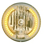 "Chevrolet Parts -  34 AMBER LED 7"" ROUND CRYSTAL HEADLIGHT"