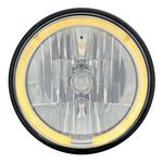 "Chevrolet Parts -  7"" ROUND CRYSTAL HEADLIGHT W/ LED HALO -AMBER"