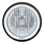 "Chevrolet Parts -  7"" ROUND CRYSTAL HEADLIGHT W/ LED HALO -WHITE"
