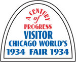 Chevrolet Parts -  VINTAGE WINDOW DECAL 1934 WORLDS FAIR VISITOR