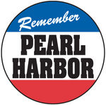 "Chevrolet Parts -  VINT. WINDOW DECAL  ""REMEMBER PEARL HARBOR"""
