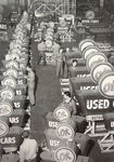 "Chevrolet Parts -  ""OK USED CAR"" SIGN MANUFACTURING B&W PHOTO"
