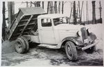 Chevrolet Parts -  1936 CHEVROLET DUALLY DUMP TRUCK B&W PHOTO
