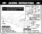 Chevrolet Parts -  1964 CAR JACKING INSTRUCTIONS