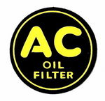 "Chevrolet Parts -  1937-1946 OIL FILTER SIDE ""AC"" DECAL 2"""