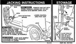 Chevrolet Parts -  1968-72 TRUCK JACK INSTRUCTIONS