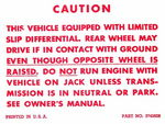 Chevrolet Parts -  1957-63 PASS/TRK POSITRACTION WARNING DECAL