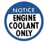 Chevrolet Parts -  1978-82 TRUCK COOLANT NOTICE DECAL