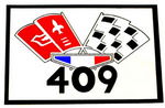 "Chevrolet Parts -  1963 CAR ""409"" AIR CLEANER DECAL"