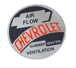 "Chevrolet Parts -  1953-1954 CAR ""AIRFLOW"" HEATER DECAL"
