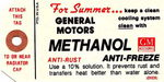 Chevrolet Parts -  1949-60 PASS/TRK METHANOL ANTIFREEZE TAG