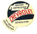Chevrolet Parts -  1955-59 TRUCK HEATER/DEFROST DECAL
