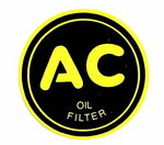 "Chevrolet Parts -  1937-1947 OIL FILTER SIDE ""AC"" DECAL 2 1/4"""