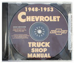 Chevrolet Parts -  1948-53 TRUCK SHOP MANUAL CD - 1 VOLUME
