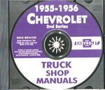 Chevrolet Parts -  1955-56 2ND SER TRK SHOP MANUAL CD - 2 VOLUME