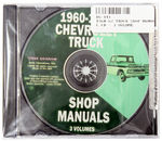 Chevrolet Parts -  1960-62 TRUCK SHOP MANUAL CD - 3 VOLUME