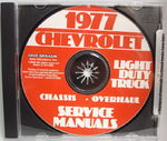 Chevrolet Parts -  1977 TRUCK LIGHT SERVICE & OVERHAUL MANUAL CD