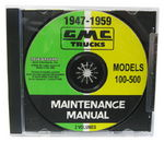 Chevrolet Parts -  1947-59 GMC 100-500 MAINTENANCE MANUAL CD