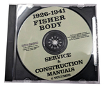 Chevrolet Parts -  1926-41 FISHER BODY SERVICE MANUAL - CD
