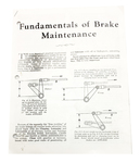 Chevrolet Parts -  1928-1929 BRAKE ADJUSTMENT MANUAL