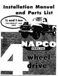 Chevrolet Parts -  1954-62 3/4 & 1 TON NAPCO 4x4 INSTALL MANUAL