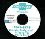 Chevrolet Parts -  1965-78 CHASSIS, BODY, ACCY PARTS CD