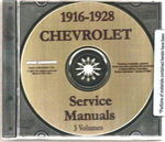 Chevrolet Parts -  1918-28 CAR & TRUCK SHOP MANUAL CD - 3 VOL.