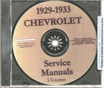 Chevrolet Parts -  1929-33 CAR & TRUCK SHOP MANUAL CD - 5 VOL.