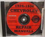 Chevrolet Parts -  1934-36 CAR & TRUCK SHOP MANUAL CD - 2 VOL.