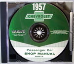 Chevrolet Parts -  1957 CAR SHOP MANUAL CD - 1 VOLUME
