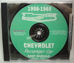 Chevrolet Parts -  1958-60 CAR SHOP MANUAL CD - 2 VOLUME