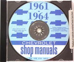 Chevrolet Parts -  1961-64 CAR SHOP MANUAL CD - 4 VOLUME