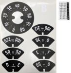 1947-1951 CHEV TRUCK GAUGE DECALS-80 MPH