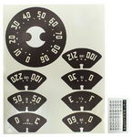 1950-1953 TRUCK GAUGE DECALS-90 MPH