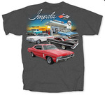 Chevrolet Parts -  CHEVY IMPALA GREY T-SHIRT